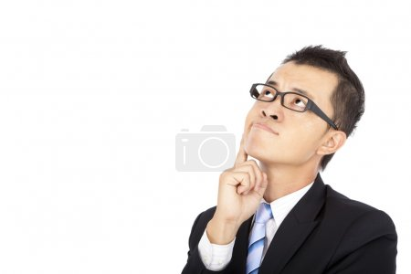 Photo for Businessman with thinking - Royalty Free Image