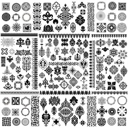 Illustration for Large vector design elements set - Royalty Free Image