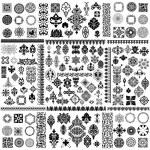 Large vector design elements set...