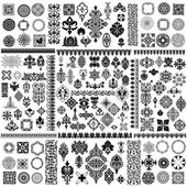 Large vector design elements set
