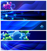 Set of five stars banners / vector / modern backgrounds