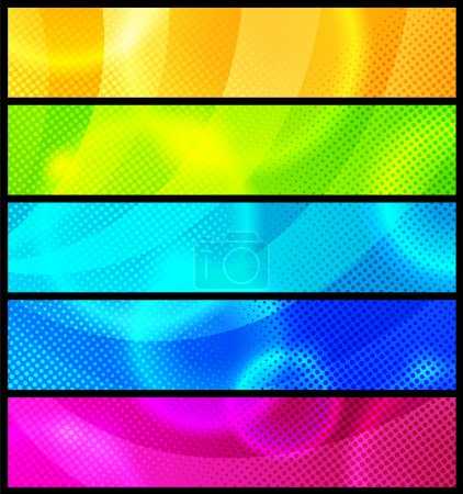 Set of five abstract banners / vector / modern backgrounds