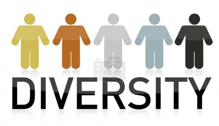 Diversity illustration design and text