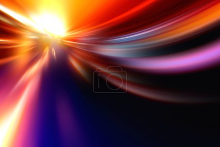 Photo pour Rapide et le mouvement de vitesse d'accélération furieuse sur la route de nuit - image libre de droit