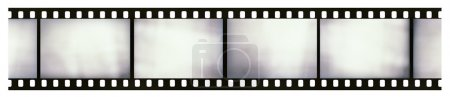 Blank light leaked 35mm black-and-white negative film frame