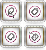Computer peripherals and all kind software file types icons set (part of the 2 Colors Chrome Icons Set)