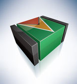 3D flag of Guyana