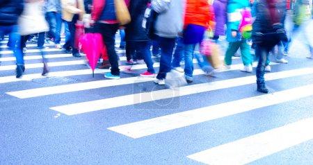 on zebra crossing