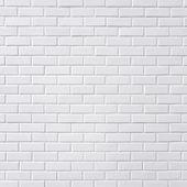 "Постер, картина, фотообои ""белая кирпичная стена"""