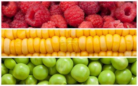 Photo pour Définir l'arrière-plan d'aliments naturels, gros plan, haute résolution - image libre de droit