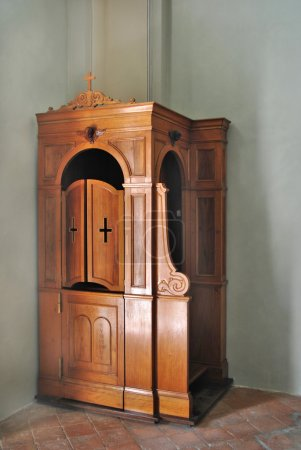 Wooden Confessional