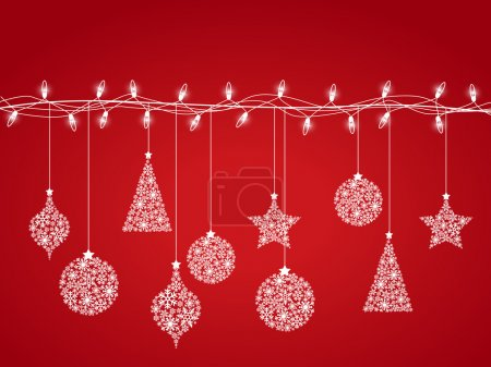 Illustration for Background of Christmas lights - Royalty Free Image