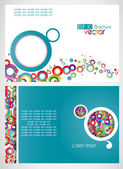 Draft of the brochure vector background