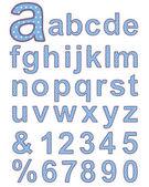 Textile alphabet