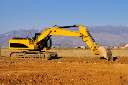 Excavator in the action