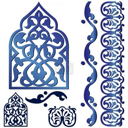 Vector islamic design element