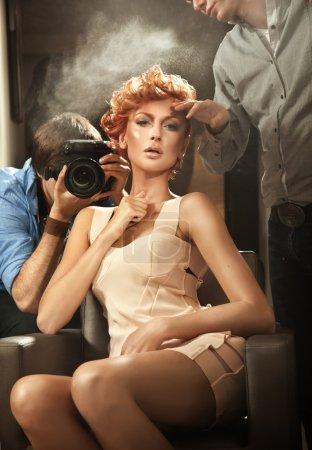 Photo for Celebrate beauty photoshooting - Royalty Free Image