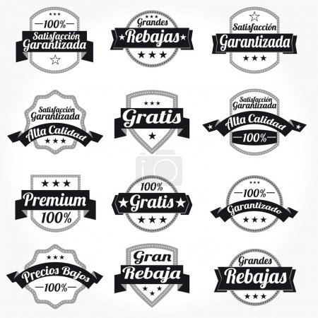 Premium Quality 100% Sales Free Labels with retro design