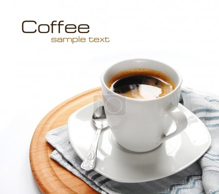 Photo for Morning cup of coffee on the white background - Royalty Free Image