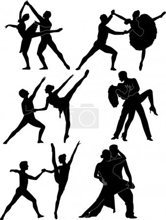 Silhouette of ballet