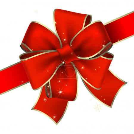 Illustration for Red bow, this illustration may be useful as designer work - Royalty Free Image