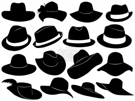 Illustration for Hats illustration isolated on white - Royalty Free Image
