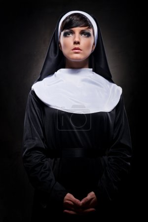 Attractive young nun...