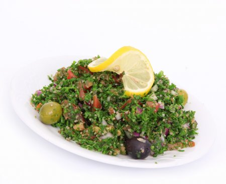 Photo for Tabbouleh salad on white - Royalty Free Image