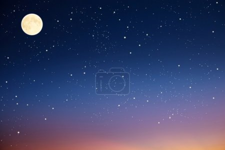 Photo for Night sky with moon and stars. - Royalty Free Image