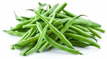 Photo for Green beans isolated on a white background. - Royalty Free Image