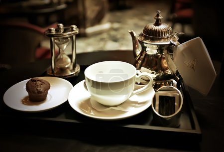 Photo for High tea serve in retro style - Royalty Free Image