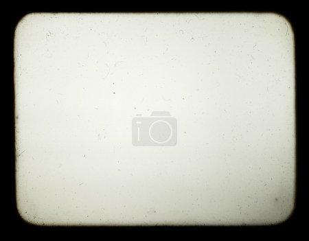Photo pour Instantané d'un écran vierge de vieux projecteur de diapositives, adapté pour obtenir l'effet de vieilles photos . - image libre de droit