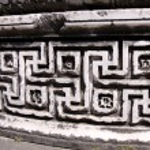 A part of colomn of Apollo temple in Didim, Turkey...