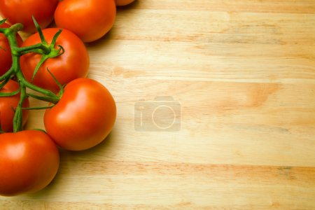 Photo for Abstract design background vegetables on a wooden background - Royalty Free Image