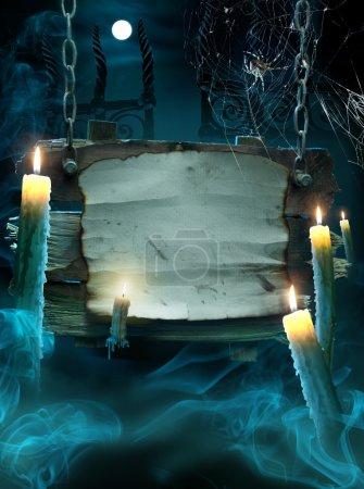 Foto de Diseño de fondo para una fiesta en la noche de halloween - Imagen libre de derechos