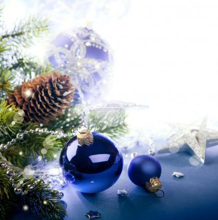 Foto de Arte tarjeta de felicitación de Navidad - Imagen libre de derechos