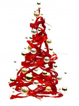 Foto de Concepto original del árbol de Navidad aislado sobre fondo blanco - Imagen libre de derechos