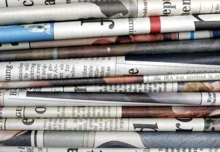 Gruppe, Stapel, Bild, Zeitung, Nachrichten, Text - B7280987