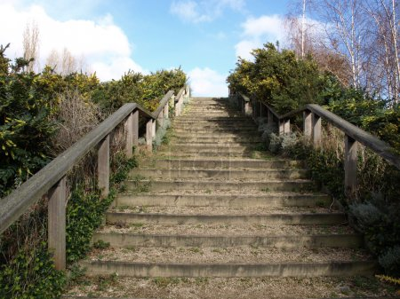 Photo for Stairway to heaven as a metaphoric symbol of elevation - Royalty Free Image