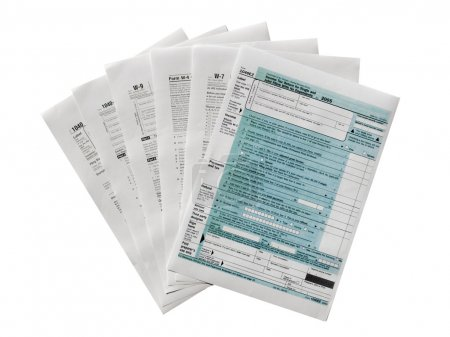 Photo for Range of various blank USA tax forms - Royalty Free Image
