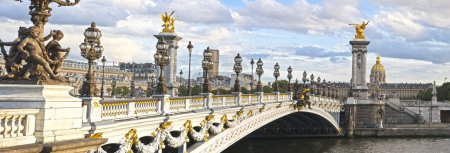 Photo for Panoramic view of the Alexandre III bridge in Paris, France - Royalty Free Image