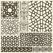 Vector set of various arabesque designs