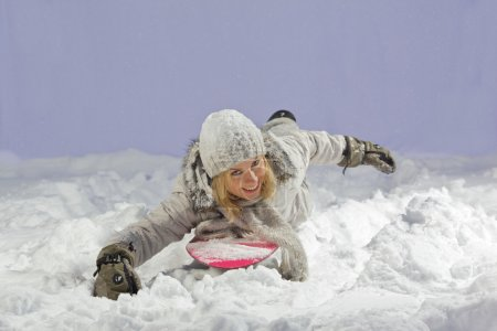 Floating snowboarder