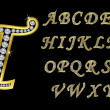 Golden alphabet, letters from A to Z...
