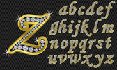 Golden alphabet letters from A to Z