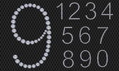 Diamond number set from 1 to 9 vector illustration