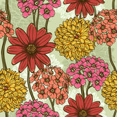 Floral repeating wallpaper