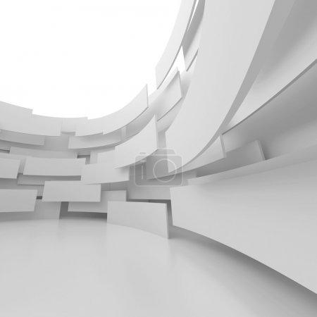 Foto de Ilustración 3D de fondo blanco Arquitectura abstracta - Imagen libre de derechos