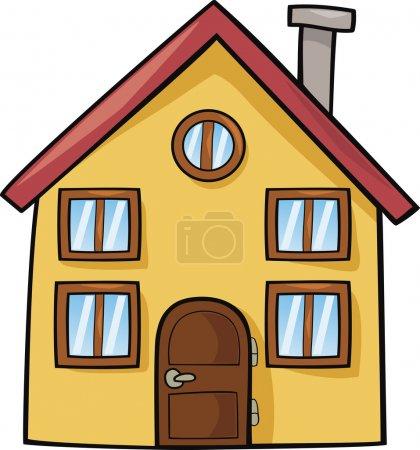 Illustration for Funny house cartoon illustration - Royalty Free Image