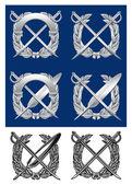 Stříbrné nebo kovový znak
